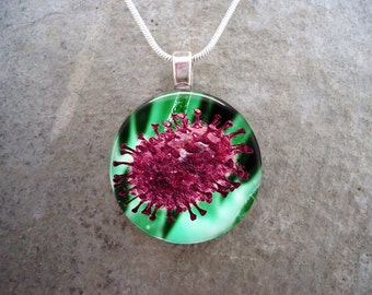 Virus Jewelry - Glass Pendant Necklace - Science Jewellery - Virus 13 - PRE-ORDER