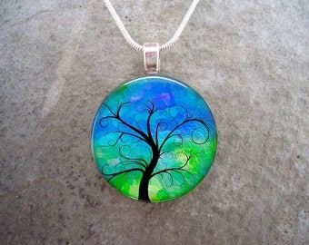 Tree Jewelry - Glass Pendant Necklace - Tree of Life Jewellery - Tree 20 - PRE-ORDER