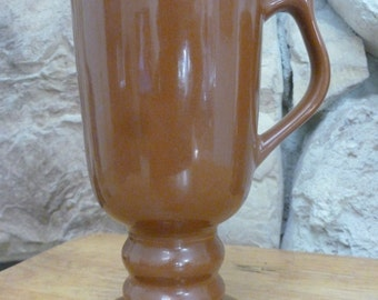 Hall 1273 Footed Pedestal mug Brown Footed 6 inches tall
