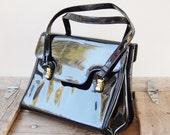 Vintage Lewis Black Patent Leather Purse 1950s