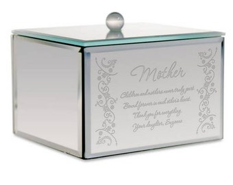 Personalized Mirrored Jewelry Box for Mom