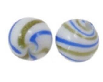 6pc 12mm round handmade blown glass beads-1559