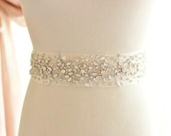 Crystal Rhinestone Bridal Sash, rhinestone wedding belt
