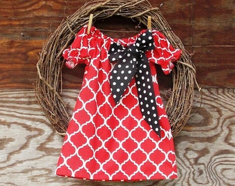 Girls Christmas Dress, Girls Dress, Girls Holiday Dress, Red Christmas Dress, Girls Red Dress