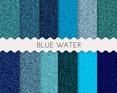 12 x 12  Blue Glitter  Digital Paper, Deep Blue Ocean Papers, Natural Blue Papers, Blue Papers, 12 SHEETS 12x12 Inches