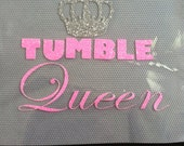 Tumble Queen Cheer Bow Decal