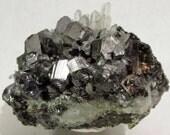 Mineral Specimen - Galena, Quartz, Pyrite - Palomo Mine, Julcani Dist., Huancavelica Dept., Peru