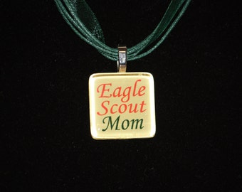 Eagle Scout Mom glass tile by Maggie Taggie glass tile tags.