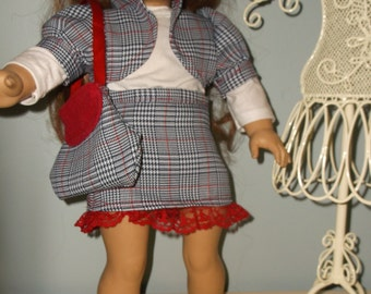 18 Inch Girl Doll Clothes  4 piece skirt and bolero style jacket outfit by Project Funway on Etsy