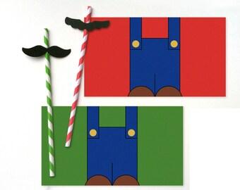 12 Mario & Luigi Character Drink Sets