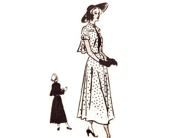 1950s Dress Pattern, Anne Adams Mail Order T 4702, 3 Pc Outfit: Drape Back Skirt, Bolero Jacket, Blouse, Vintage Sewing Pattern Bust 32