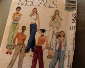 McCalls 2791 size extra small, small and medium ten - girl slacks