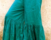 SALE -deep turquoise tribal belly dance gypsy flared pant trousers