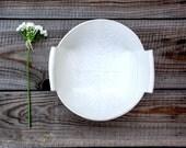 Ceramic Salad Bowl , White Fruit Bowl , Modern Ceramic Bowl, White Stoneware Bowl , Housewarming Gift