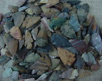 25 reproduction arrowheads spearheads jasper stone points for crafts,necklaces,earrings,wire wrapping,scrapbooking,etc