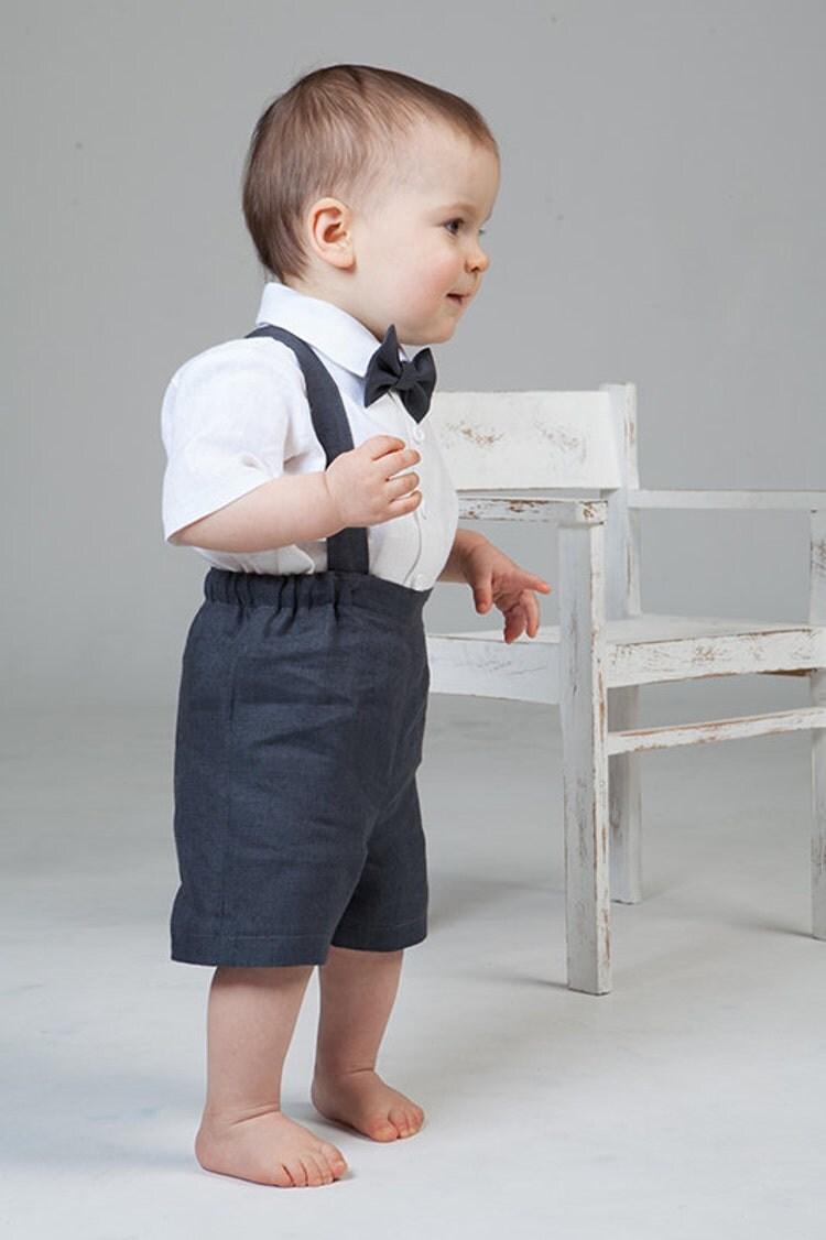 b b gar on costume lin anneau porteur tenue premier par. Black Bedroom Furniture Sets. Home Design Ideas