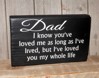 Solid Wood Dad Block.. Fathers Day..Dad's Birthday..Father of the Bride