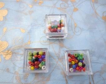 SALE--12PCS Small Clear Plastic Boxes, Display Boxes, Clear Display Cases,Transparent plastic box, Eco system terrarium boxes