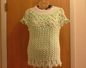 Iced Mint crochet top