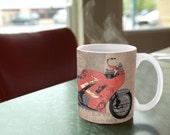 MUG Triumph Daytona 1000 1992 collage | Original Art | a great gift for men | Unique coffee mugs