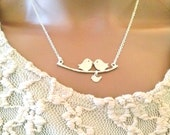 sterling,bird and branch necklace,silver,branch jewelry,christmas gift,birthday anniversary gift,necklace,bridesmaid gift