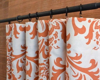 Designer Curtain Panels 24W or 50W x 63, 84, 90, 96 or 108L Traditions Sweet Potato Natural shown