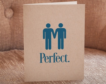 Perfect (Gay Couple) Letterpress Card