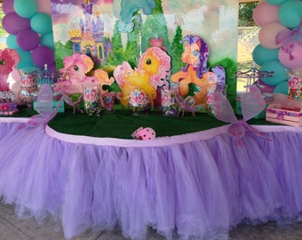 Custom Tutu Table Skirt, Candy Buffet, Centerpiece, Dessert table, Birthday Party