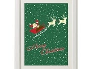 merry christmas, Santa Claus's reindeer, deer, 8''x10'', free shipping, gift under 20