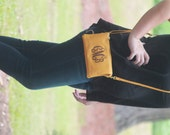 Monogrammed  Cross body Bag Clutch  Purse Wristlet Bridesmaid Personalized