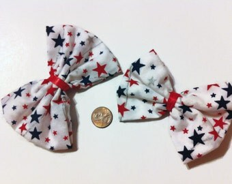 Red, White & Blue Patriotic Hair Bows, USA Hair bows, USA hair accessories, Independence day, 4th of July, gift ideas, back to school, bows