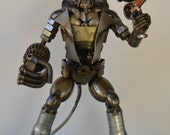 Hand Made Hellboy 12 Inches  Recycled Scrap Metal