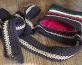 Rasta Vibrations Crochet Wrap-Around Belt Bag / Mini-Messenger Pack