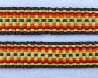 "Chiara -  Hand Woven Inkle Trim (1"" wide)"