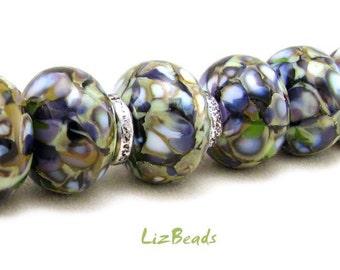 SRA Handcrafted Artisan Lampwork Bead Set - MYSTICAL MOONDROPS
