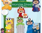 Monster Street Kids   Clip art  Clipart Graphics  Commercial Use