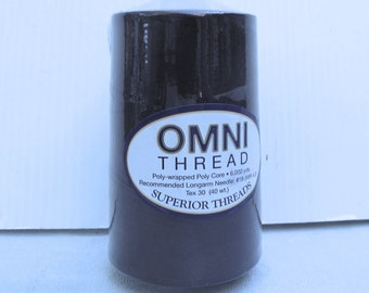 Navy Blue Sewing Thread - Omni Superior Polyester SERGER THREAD for quilting & apparel - 6,000 yards