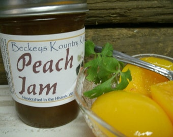 Homemade Peach Jam, Handcrafted, Deliciously Sweet, jam & jelly