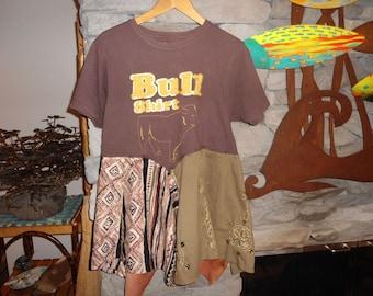 Bull Shirt T Shirt Tunic Funky Top size Large