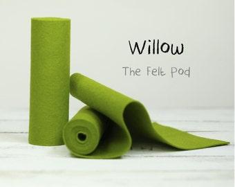 Wool Felt Roll - 100% Wool Felt in color WILLOW - Designer Wool Felt - Merino Wool Felt