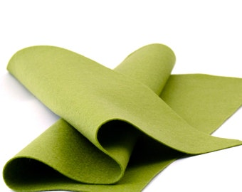 "100 Percent Wool Felt Sheet in Color SAGE - 18"" X 18"" Wool Felt Sheet - Merino Wool Felt - Premium Craft Felt"