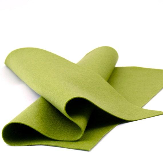 "100 Percent Wool Felt Sheet in Color SAGE - 18"" X 18"" Wool Felt Sheet - Merino Wool Felt - Premium Craft Felt"