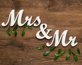 Mr and Mrs table sign, free standing wedding sign, sweetheart table decor, DIY, custom colors