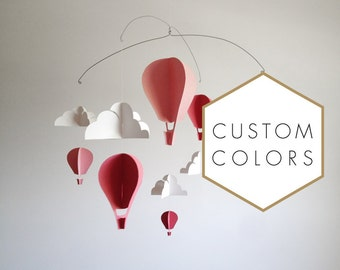 Customized Hot Air Balloon Paper Mobile (S)