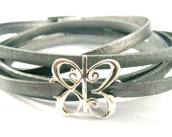 One Meaning I Love You Leather Wrap Bracelet  - all of our jewelry means I LOVE You
