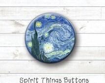 Art Buttons - 1 inch pinback button, magnet, flat back, or zipper pull
