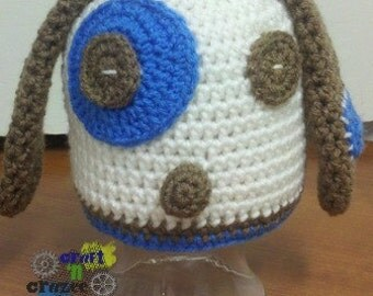 Patches the Puppy Crochet Beanie