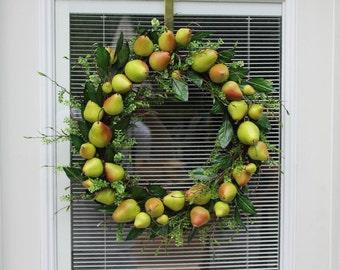 Green Pear Wreath