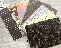 Patterned envelopes 5x3 1/2 set of eight different prints