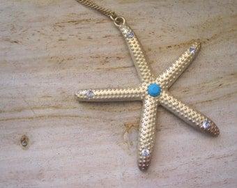Starfish Necklace - Gold Starfish Necklace - Beach Wedding Necklace - Beach Wedding - Wedding Jewelry